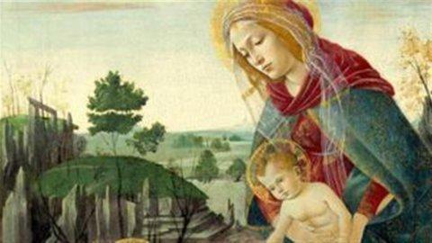 Botticelli, rientra a New York la Madonna Rockefeller
