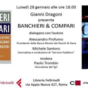 """Profumo e Santoro alla presentazione del libro di Gianni Dragoni """"Banchieri & Compari"""""""