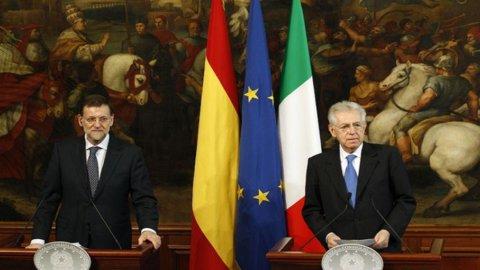"""Monti: """"Alcuni Paesi Ue hanno chiesto la proroga di un anno per la riduzione del deficit, noi no"""""""