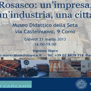"""""""Rosasco: un'impresa, un'industria, una città"""", a Como un convegno sull'industria tessile"""
