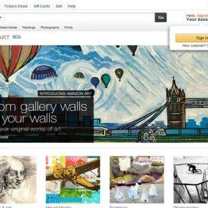 Opere d'arte, Amazon lancia una piattaforma per comprare online
