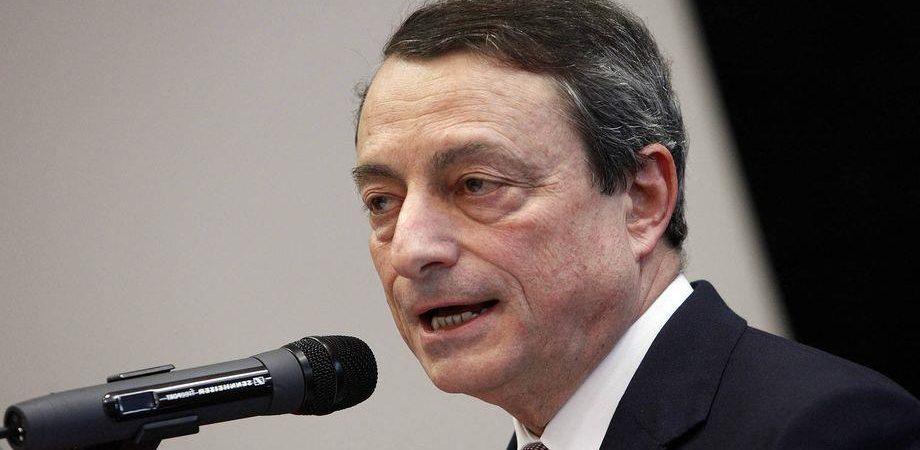 """Draghi: """"Senza investimenti non ci sarà ripresa sostenibile"""""""