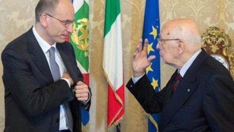 Incontro Letta-Napolitano: via libera al chiarimento in Cdm e in Parlamento
