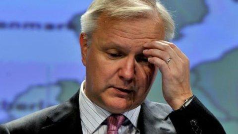 """Rehn: """"Sul debito l'Italia non sta rispettando gli impegni"""""""