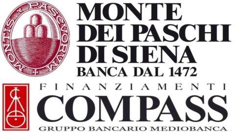 Mps e Compass: accordo per distribuzione finanziamenti alla clientela retail