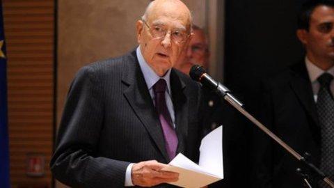 """Napolitano: """"Austerità a ogni costo non regge più"""""""