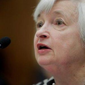 Fed: Yellen, sostegno straordinario all'economia Usa è ancora necessario