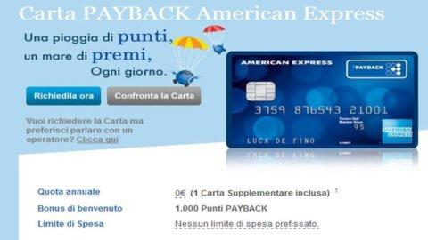 American Express-Payback: nasce una nuova carta di credito che premia ogni acquisto
