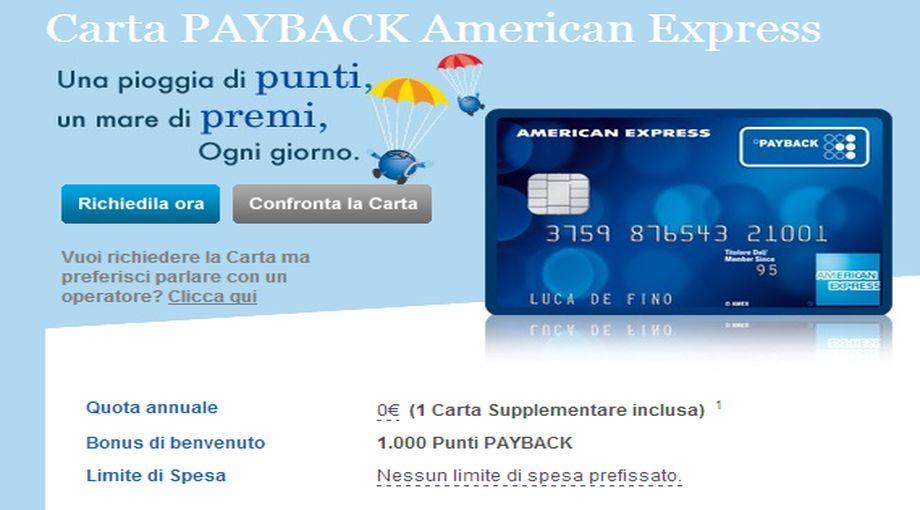 american express payback nasce una nuova carta di credito che premia ogni acquisto firstonline. Black Bedroom Furniture Sets. Home Design Ideas