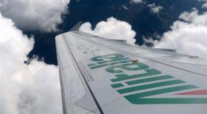 Aereo Alitalia in volo