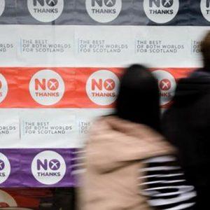 Referendum Scozia: in vantaggio i No negli ultimi sondaggi
