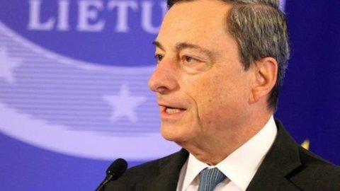 """Draghi, Bce: """"Acquisti covered bond da metà ottobre, Abs nel IV trimestre"""""""
