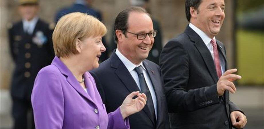 Renzi-Merkel-Hollande: sicurezza, migranti e crescita nella Ue del dopo Brexit