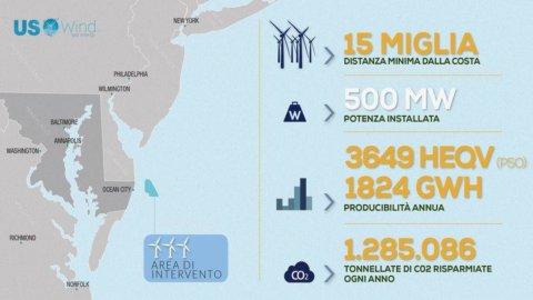 Un  italiano costruirà il più grande parco eolico marino degli Stati Uniti