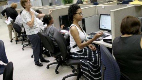 Usa: disoccupazione stabile, crescono più delle attese i nuovi impieghi