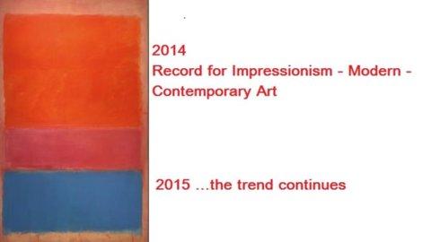 Arte: il 2014 conferma la tendenza verso l'arte contemporanea e opere storicizzate