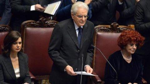 """Mattarella: """"Serve unità e crescita, sarò arbitro imparziale"""""""