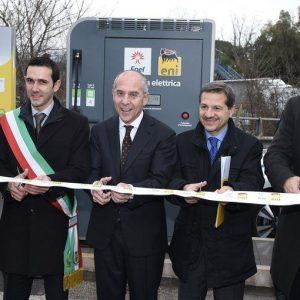 Eni e Enel per la mobilità elettrica: inaugurata stazione ricarica a Pomezia