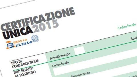 Certificazione unica 2015: addio Cud, ecco cosa cambia