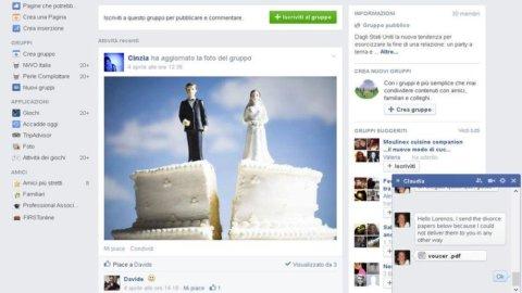 Divorzio, puoi farlo anche con Facebook