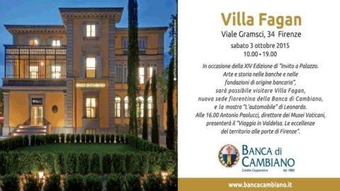 Firenze, la Bcc di Cambiano apre oggi per la prima volta Villa Fagan con Leonardo e Paolucci