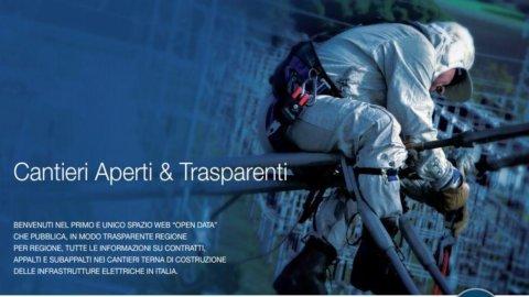 """Terna, al via l'operazione """"Cantieri trasparenti"""": contratti e appalti consultabili online"""