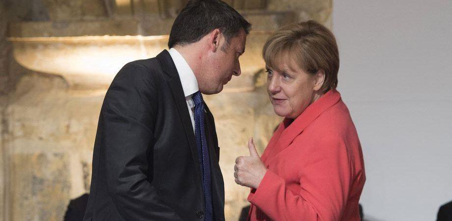 Merkel a Roma: incontra Renzi e il Papa