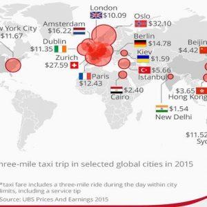 Taxi, Milano e Roma più care di Parigi