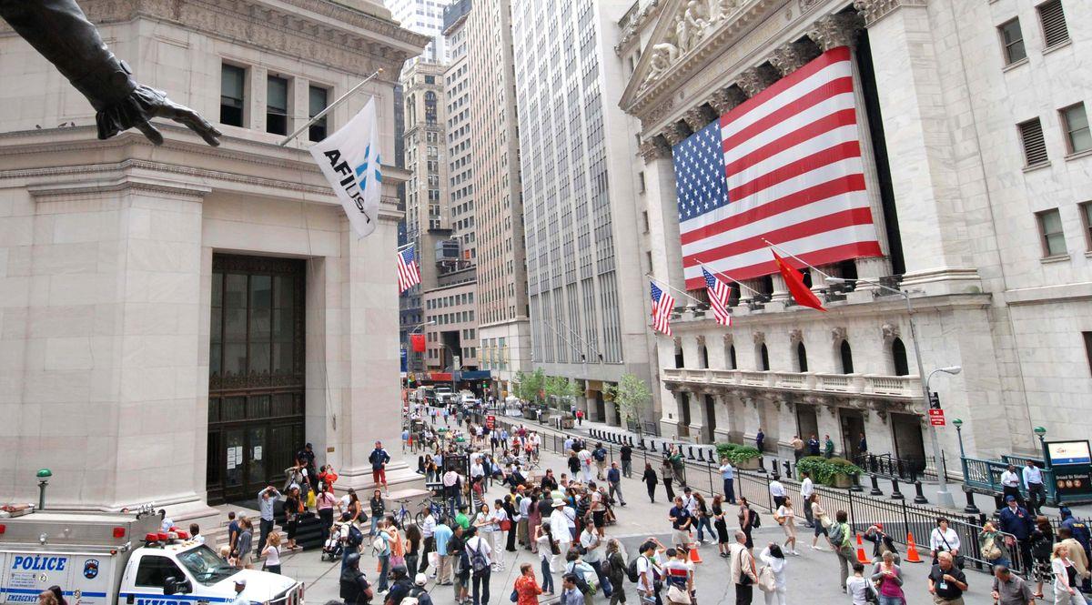 Esterno di Wall Street a New York