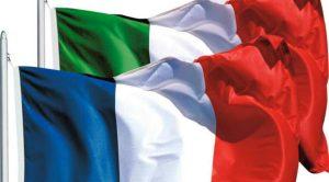 Bandiere di Francia e Italia