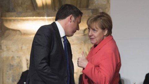 Banche e bail-in:  tra Merkel e Renzi un duello con qualche equivoco