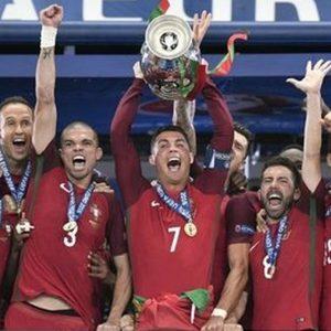 Portogallo campione d'Europa con CR7 ko