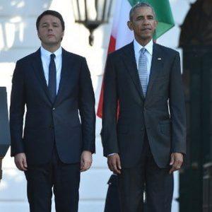 Renzi da Obama con Benigni, Sorrentino, Armani e Bebe Vio