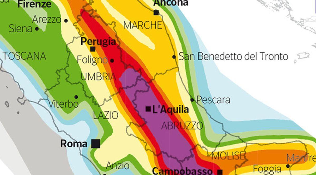 Cartina Italia Terremoti.Terremoto Mappa Del Rischio Sismico In Italia Firstonline