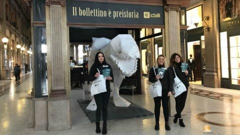"""Abi, a Roma la campagna """"Il bollettino è preistoria"""""""