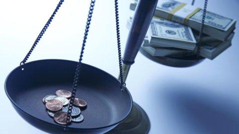 Diseguaglianze: il reddito del 20% più ricco è quasi 6 volte quello del 20% più povero
