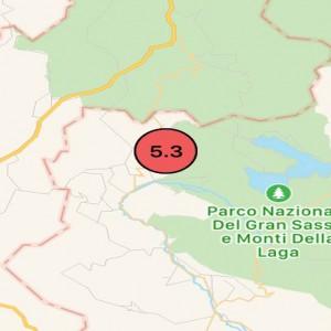 Terremoto: forti scosse nel Centro Italia