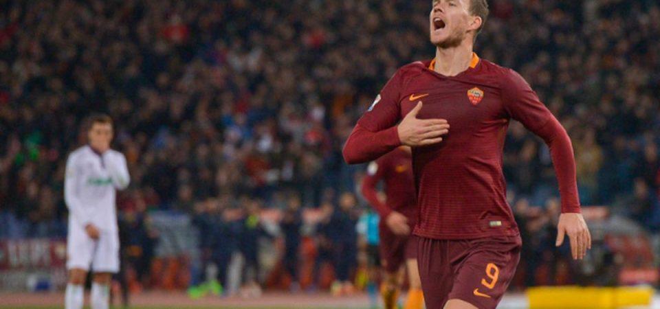 Dzeko lancia la Roma: 4-0 alla Fiorentina