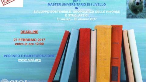 Sioi: borse di studio al master  in Sviluppo sostenibile, Geopolitica delle Risorse e Studi Artici