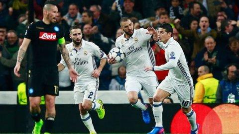 Champions, Insigne non basta al Napoli: vince il Real 3-1