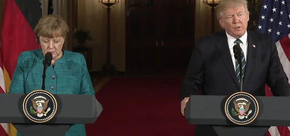 Merkel e Trump: gelo nel faccia a faccia