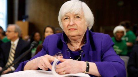 """Yellen: """"Imprudente"""" non aumentare i tassi Usa"""