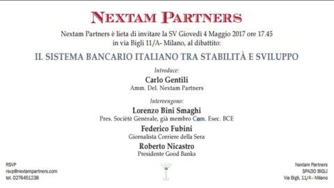 Sistema bancario italiano tra stabilità e sviluppo: convegno Nextam