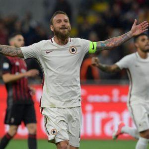 La Roma umilia il Milan e scavalca il Napoli. Inter perde a Genova