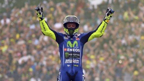 Valentino in pista: soffre ma corre