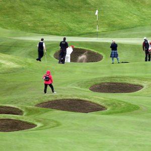 Golf, prove di Open Championship in Scozia