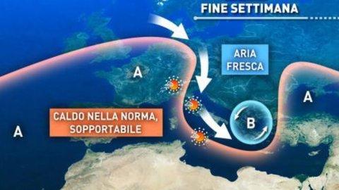 Meteo: temporali al Nord, ancora afa al Sud