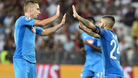 Napoli in Champions: altro 2-0 al Nizza