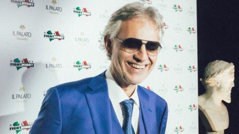 Celebrity fight night in Italy 2017: Il Palato Italiano con Andrea Bocelli