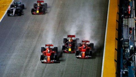 Singapore, disastro Ferrari: vince Hamilton